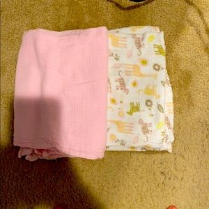 Chick pea Swaddle blankets for  baby girl